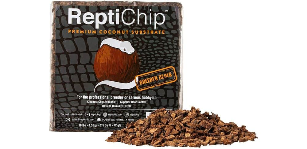 Coconut chip substrate from ReptiChip