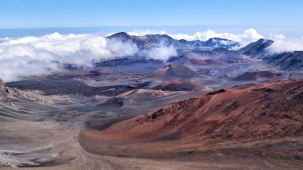 Volcanic landscape on Maui Hawaii