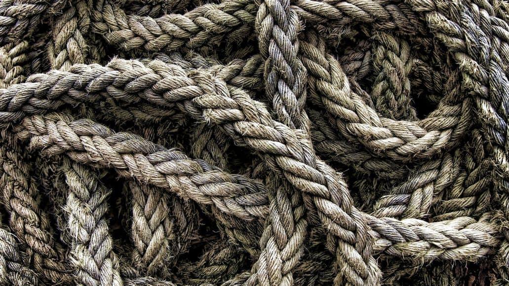 scratchy fiber rope